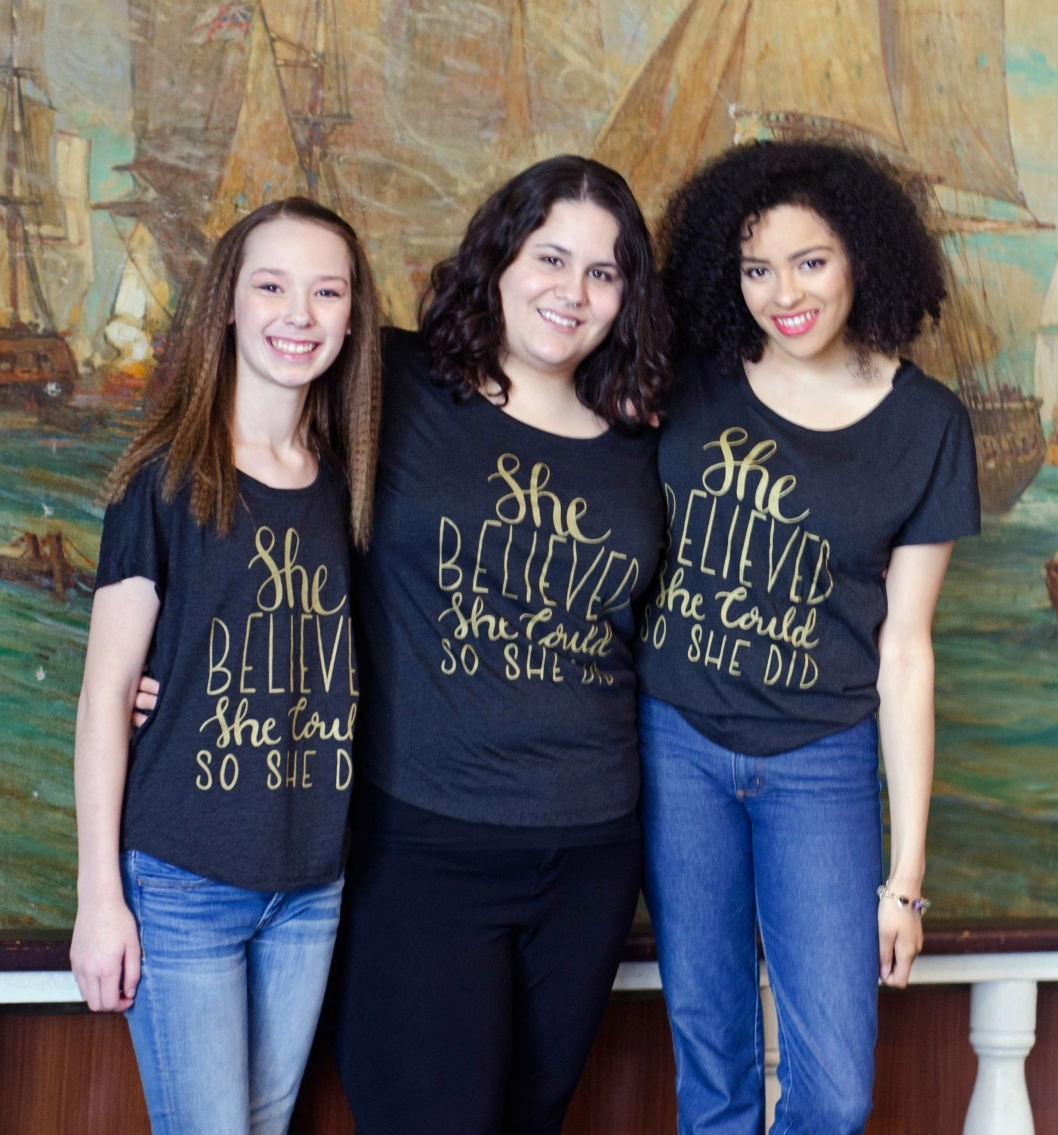 "Women Showcasing Self Love Beauty's ""She Believed She Could So She Did"" shirt"