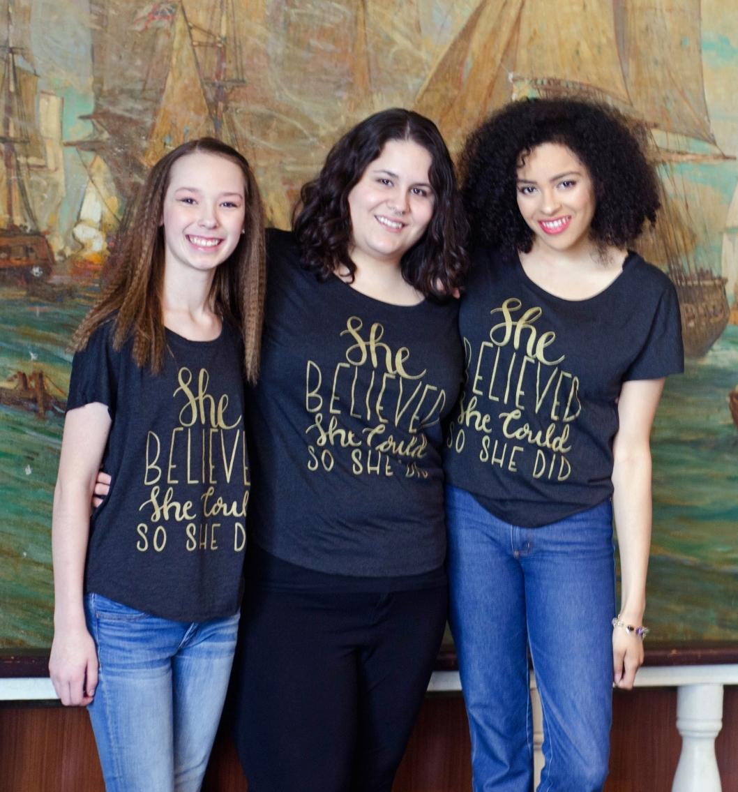 "Women Showcasing Self Love Beauty's ""She Believed She Could So She Did"" shirt"